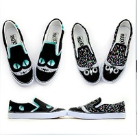 Free shipping 2013 The original design painted shoes graffiti painted canvas leisure shoes slip-on Korean tide shoes