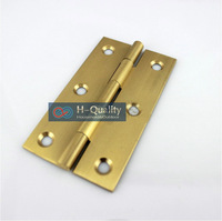 Free Brass Screws 10PCS/Lot Door Hardware Beatiful Wire Drawing 2 Inch (50MM) Length Solid Fresh Brass Door Hinge, Cabinet Hinge