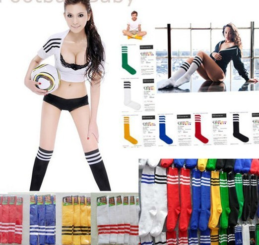 2Pair New Soccer Baseball Football Basketball Sport Over Knee Ankle Men Women Socks[SHE062(2)](China (Mainland))