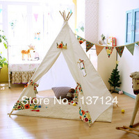 Children play tent cotton solid environmental protection Teepee Children's tent
