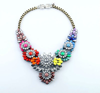 New Designer 2014 Fashion jewelry Acrylic Shiny Elegant Plant Pendant Necklace For Christmas Gifts