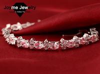 Joyme brand new 2014 Women Fashion Golden&Platinum Plated Copper Quality   Zircon Bracelet Best For Gift bracelets & bangles