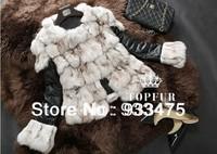 New Genuine Fox Fur Jacket Nature Fox Fur Leather Coat Winter Women Waistcoats TP9003