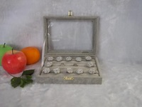 Free Shipping Wholesale Ice Velvet Jewelry Rings Display Show Case Organizer Tray Box
