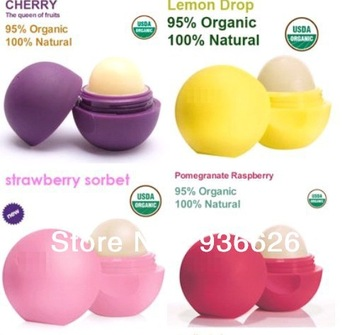 Fruit taste Pure natural plant Lip Balm Sphere 7g 4pcs / lot