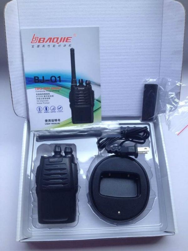 New cheap hand two way radio 3w uhf walkie talkie BJ-Q1(China (Mainland))