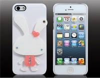 3D Rabbit Crystal Decorated Protective Case For I5