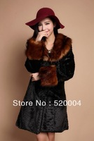 Fashion marten overcoat mink fur medium-long 2013 fur collar fur coat