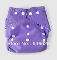 F&D Size Adjustable 3-13KG One Size Reusable Baby Cloth Diaper Nappy Purple Color 4pcs