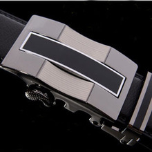 Belt 2015 new arrival men automatic buckle brand designer leather belts for business men which high