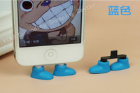Silicone  Material ,  Standing Shoe USB Socket Dust Plug  For Iphone 4 4S 5 Samsung