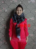 2014 New Hot sale  fox muffler scarf fox scarf fur scarf silver blue silver fox fur scarf