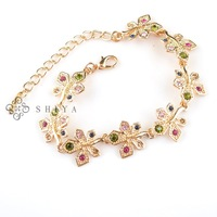2013 Classic Gold Canada Maple Leaf Bracelet(1Pcs/lot)Multicolor Leaf Charm Bracelet