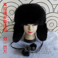 Hot sale Fox hat black lei feng cap winter fur hat female autumn and winter ear protector cap 2014