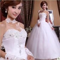 Free shipping !2013 fashion women dress Sweet lace Lovely High-quality Sexy princess dress rhinestone flower bride wedding dress