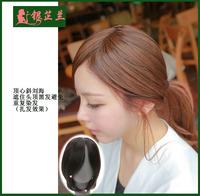Simulation fake bangs wig oblique bangs wig piece top heart