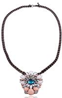 NEW 2014 Sweet Flower Statement Pendant Necklace fashion pendants Luxury bib Necklace For Women Jewelry Free Shipping