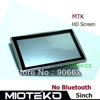 5 inch GPS Navigator Windows CE 6.0 128M RAM  4GB MTK CPU533MHZ 800*480 car gps navigator navitel