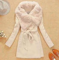 Women Wool Long Coat ,Fashion Warm Winter Leisure Wear,Cloak Woolen Blends Fur Jacket,S/M/L/XL