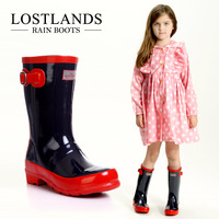 2013 free shipping Fashion child rain boots boys rain boots girls rainboots red bottom boots high quality shoes for kids