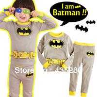 Retail & Wholesale Free Shipping 2014 New 100% Cotton Baby Pajamas of the Kids Active Pajamas Children Clothing 2 pcs Set