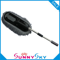 Free Shipping Removable Telescopic Car Wax Drag Nano Fiber Car Wash Brush Dust Brush Car Mop Wax Cleaning Tools