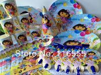 Child party supplies limited birthday supplies party bundle dora doll 6 set