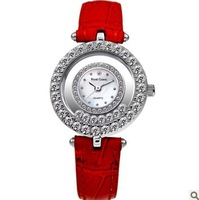 Royal Crown Diamond Roman Style Red Watch Women Quartz Bracelet Watches Famous Brand Rhinestone Watches For Lady Self-Wind
