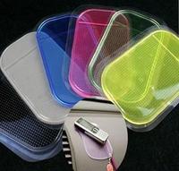 Wholesale - 10pcs/lot Powerful Silica Gel Magic Sticky Pad Anti-Slip Non Slip Mat for Car dvr GPS,Free Shipping AAA