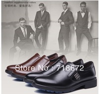 2013 new, men, first layer of leather, apartment, flat, everyday casual shoes, work, wedding, dress shoes, free shipping