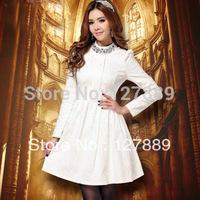 2014 new women's fashion apparel Jacquard Hitz casual long-sleeved lace dress