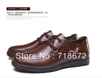 2013 new, men, first layer of leather, apartment, flat, Casual shoes, occupation, weddings, banquets, dress shoes, free shipping