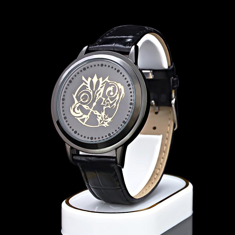 Fate/stay night LED wrist watch waterproof touch screen multiply theme EVA Q Fairy tail Gintama Naruto Sharingan Attack on titan(China (Mainland))
