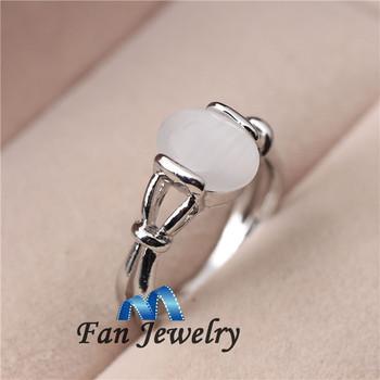fashion jewelry 18K platinum plated Moonstone ring vampire twlight Bella love ring DMV480