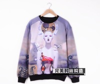 2013 JUUN.J bigbang gd SWAG robot 3D PRINT lovers sweatshirt HOODIES outerwear pullover 3D MEN WOMEN FREE SHIPPING