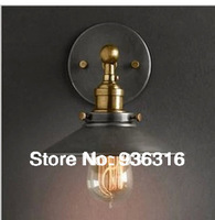 Free shipping America style country nostalgic vintage copper wall lamp edison  iron +E27 Lamp holder  +Wall lamp ancient ways