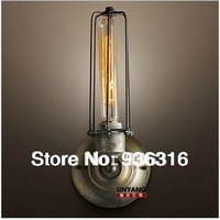 Free shipping American style Edison wall lamp iron lamp light bulb vintage bedside Retro wall lamp,warehouse  wall lamp