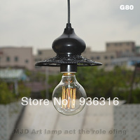 Vintage Edison light bulb Pendant Lights/iron chandelier living room cafe aisle pendant lights+G95 E27 40W bulb+100cm wire