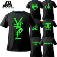 fun shirt popular brand logo t-shirt,DIY custom design logo,spoof noctilucent clothes,casual shirt free shipping