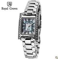 Royal Crown Steel Strap Best Watches Women's Original Famous Brand Women Rhinestone Watches Female Clock Ladies Casual Watch