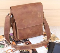 The new 2013 vintage men's bags han edition leisure inclined shoulder bag first layer cowhide man shoulder bag