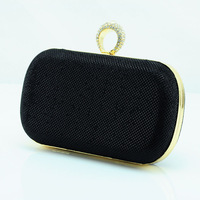 New Ring Diamond Clutch Evening Bag Women's Handbag Purse Handbag Wedding Party Bag Box