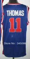 Free Shipping,Cheap Sale,#11 Isiah Thomas Men's Baskerball Jersey,Embroidery Sewing Logos,discount activewear