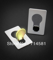 Free Shipping Credit Card Folding Light Bulb wiht Fluorescent Screen for Your Wallet Vision