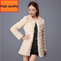 2013 New Fashion Lmitation Rabbit Lady Fur Jacket And Long Sections Women's Thickening Faux Fur Coat