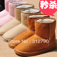 Freeshipping New2013  Fashion snow boots winter boots women shorts boots with 5colors flat boots with short plush gift
