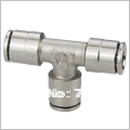 MPUT 8MM,Fast shipping ,Metal One touch fitting , Brass plated-Nickle pneumatic fitting