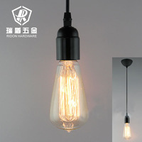 Wholesale Edison Silk light ST64 E27 bulb +CE lamp holder+wire+ceiling base vintage american bar decoration DIY pendant light