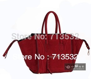 NEW Brand 2013 women messenge bag Faux Suede Leather Large bags for women Big handbags Free Shipping QAA276