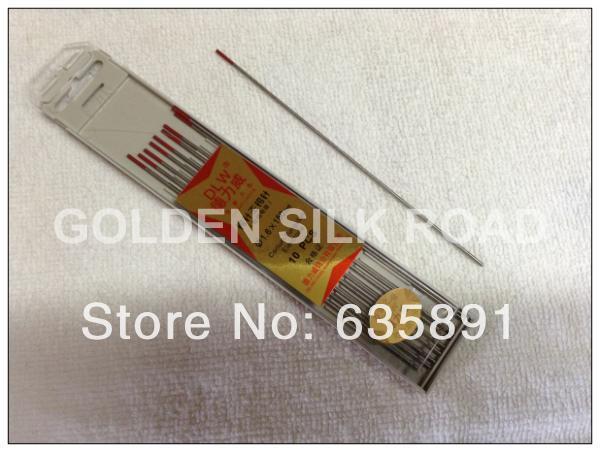 Livraison gratuite 10 PCS 1.6 mm * 150 mm électrode de tungstène pour le soudage tig, Tête rouge cérium électrode en tungstène(China (Mainland))